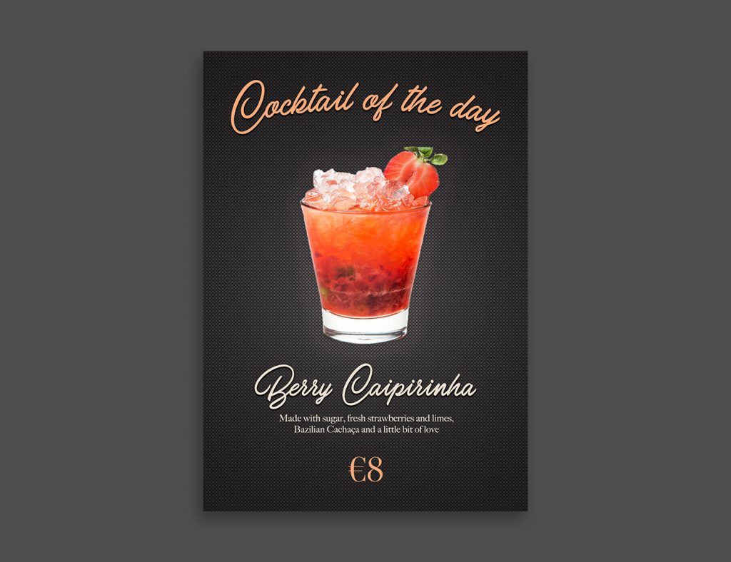 A-Town Agency - Abigael Straver | Nightlife Content Creation | Cocktail of the Day menu