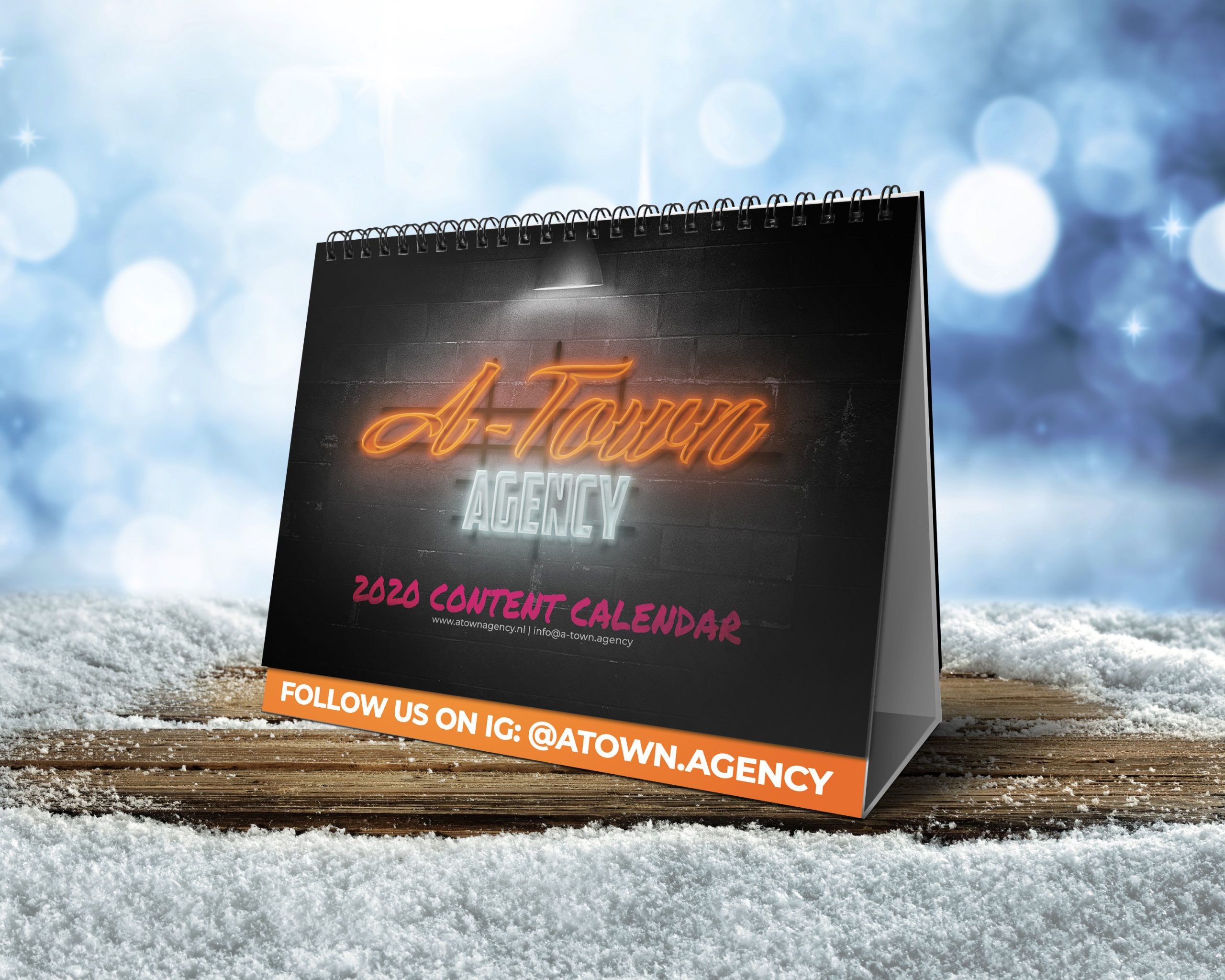 Free Content Calendar 2020 - By Abigael Straver / A-Town Agency
